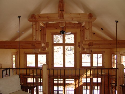 Thompson Honka Log Home Trusses