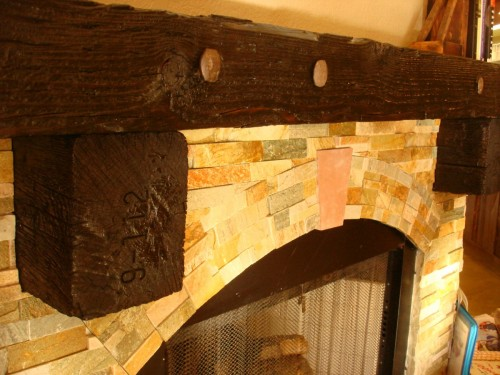 Fireplace Mantel On Pinterest Fireplaces Railroad Ties And Mantles