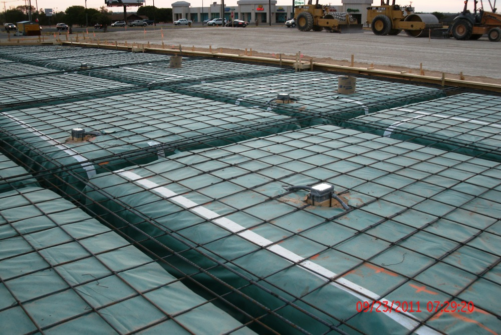 Clear creek south pawn shop construction phases for Slab foundation definition