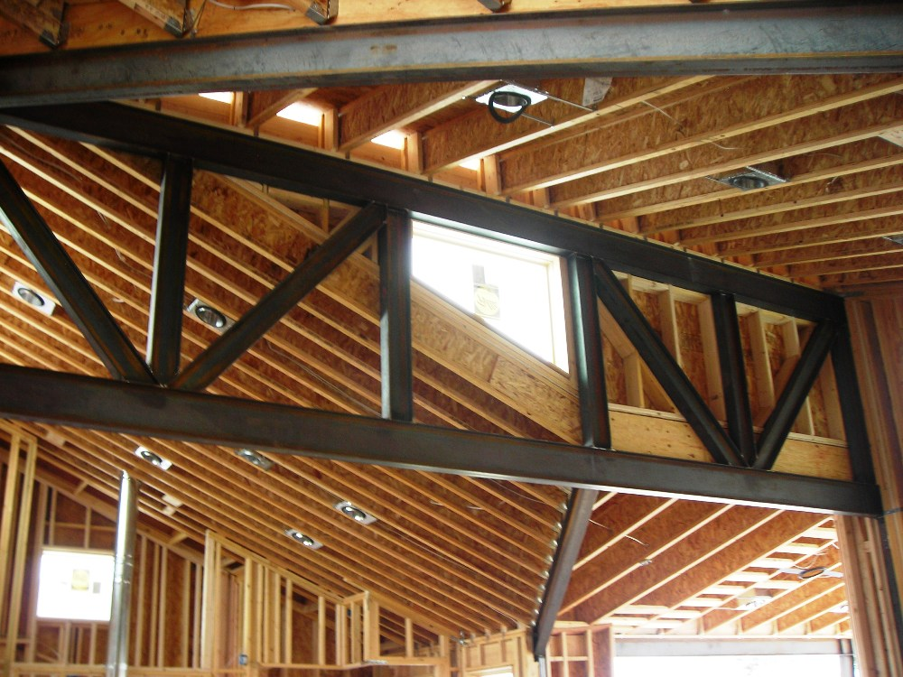 Steel Truss Design For Custom Home Evstudio Architect