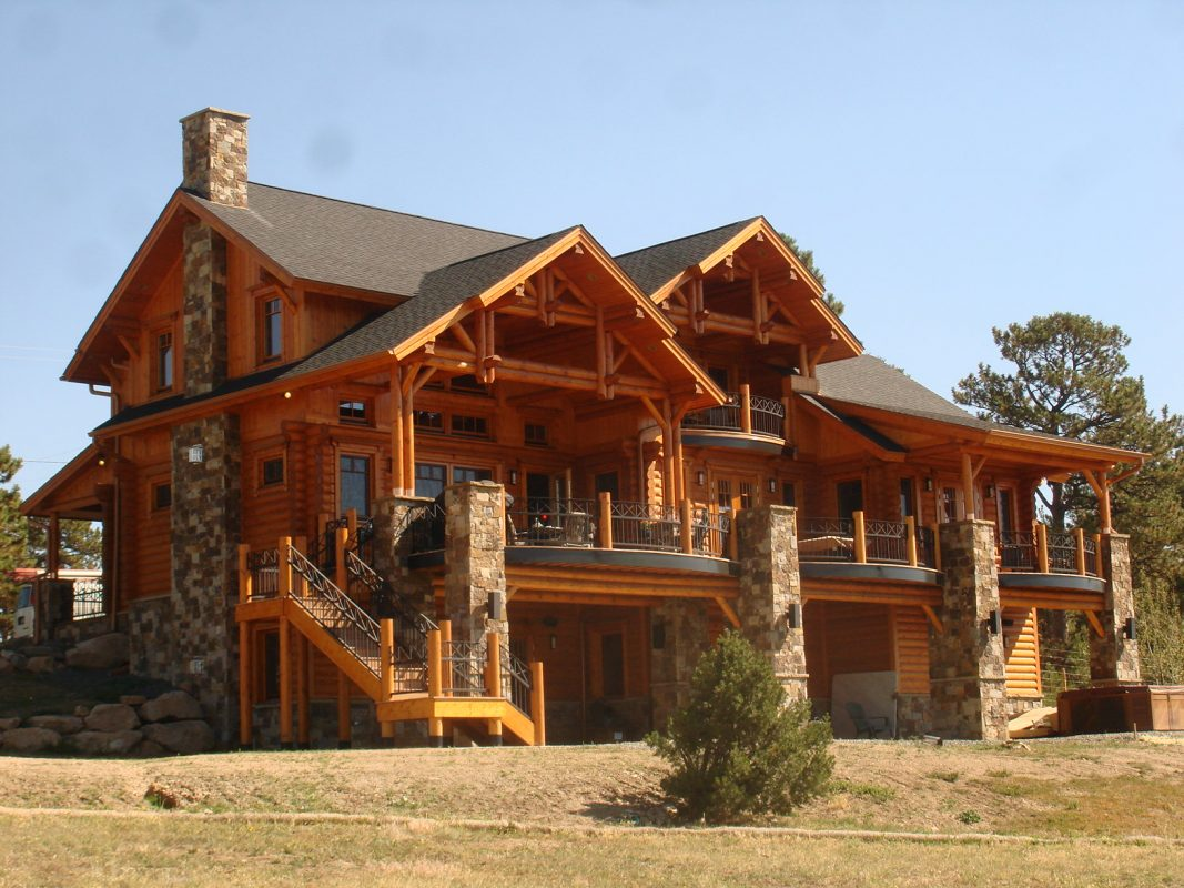 Evstudio contemporary log style evstudio architect for Colorado mountain home plans