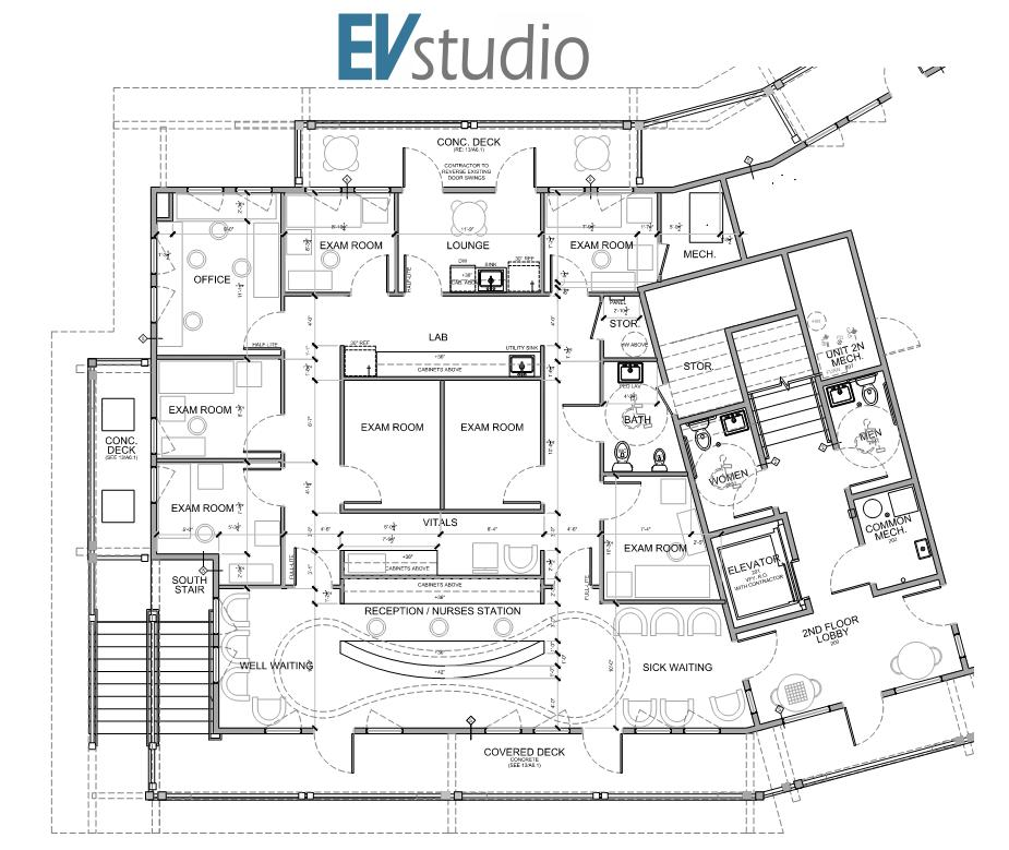 Mountain Pediatrics Floor Plan — EVstudio, Architect Engineer