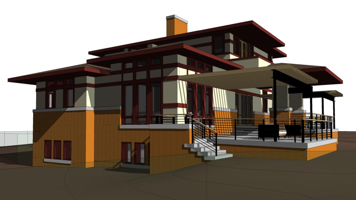 Evstudio prairie style evstudio architect engineer for Prairie style architecture