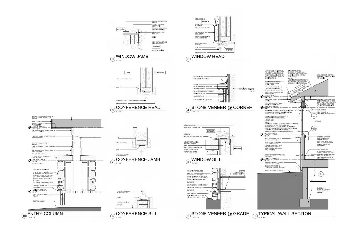 Vintage and Modern Architectural Drawings EVstudio Architect