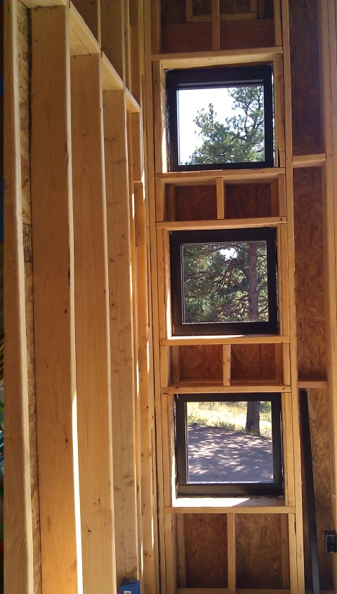 mountain modern custom punched windows