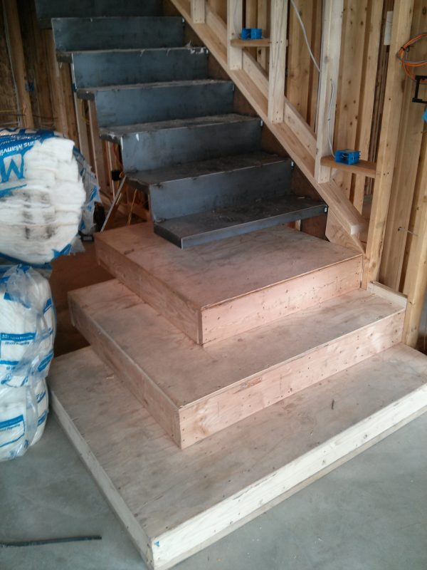 Cantilevered Stair In Modern Home Evstudio Architect