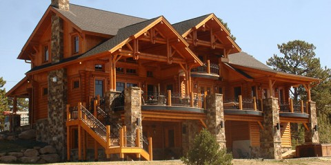 Expansive Log Home