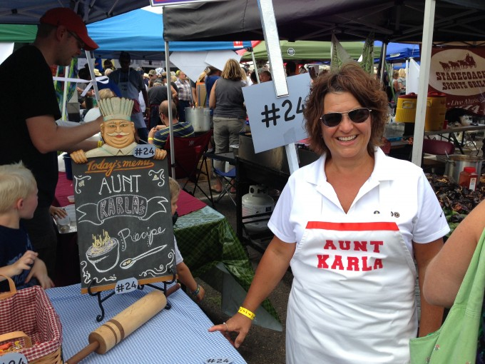 Chili name sake - Aunt Karla (who flew from Bentonville, AR, to be part of the fun.