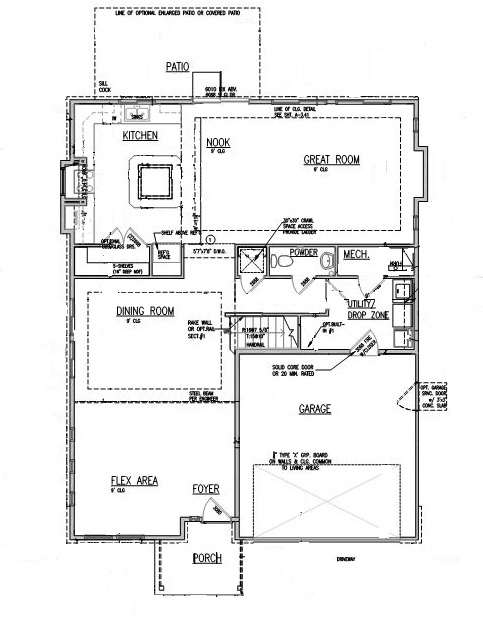 "First Floor Elevation Models : Evstudio and oakwood homes aurora colorado ""the vail"