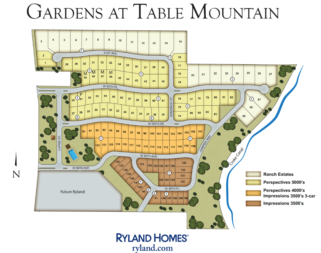garden at table mountain - Ryland Homes Colorado Floor Plans