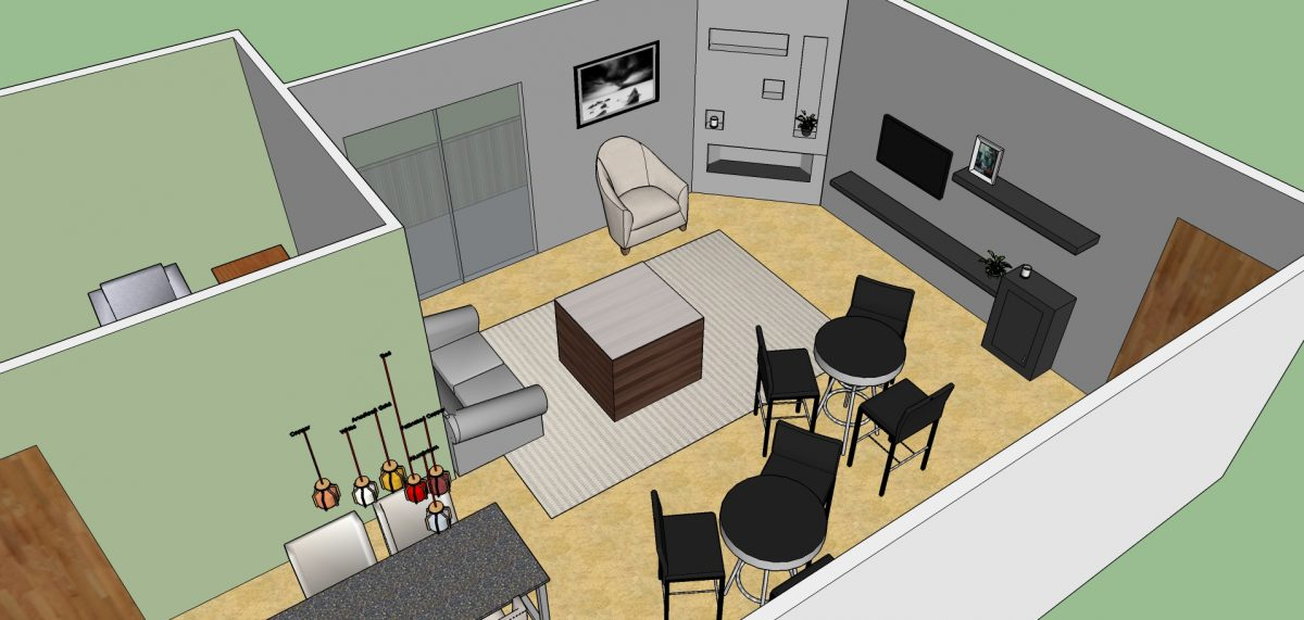 Sxsw office layout sketchup model evstudio architect Room layout builder