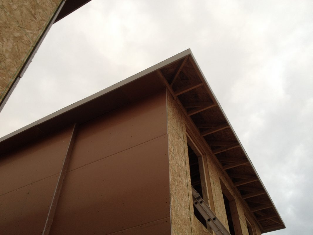 Fire Resistant Soffit : Project update narrow urban houses in denver — evstudio