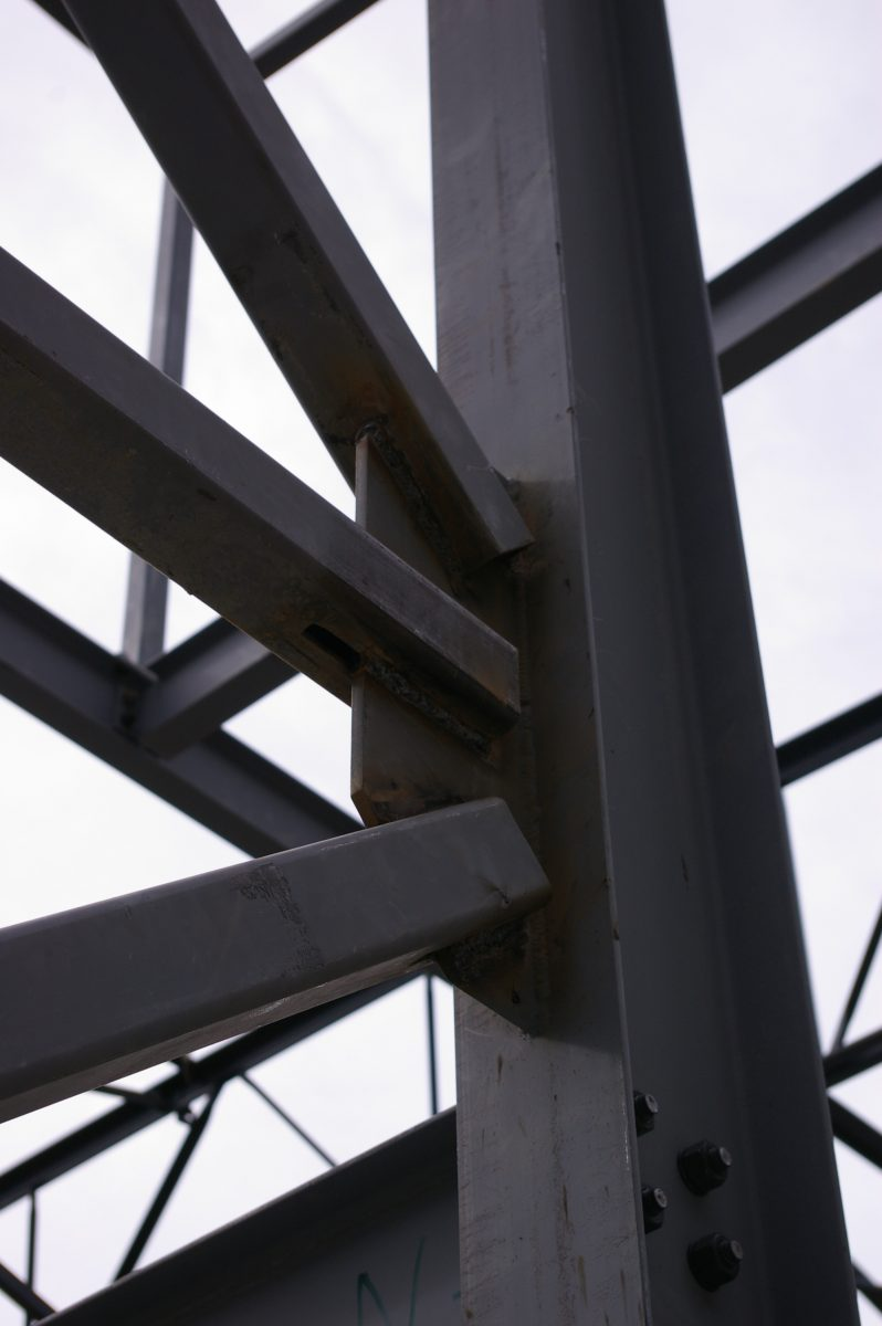 Steel Structure is up at Private Residence — EVstudio, Architect ...