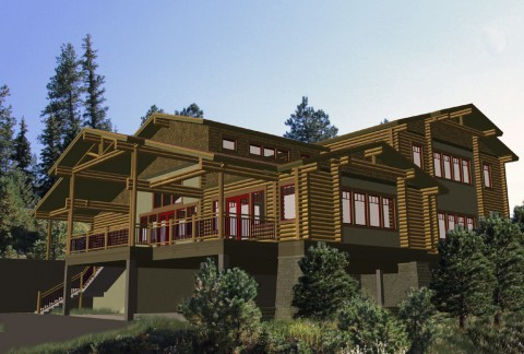 Evergreen Terraces Log Rendering