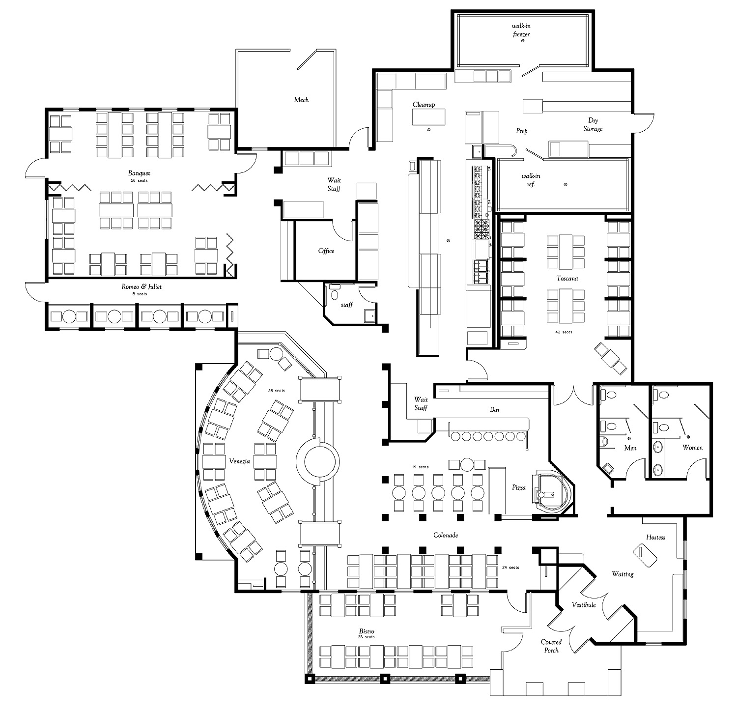 Giovanni Italian Restaurant Floor Plans