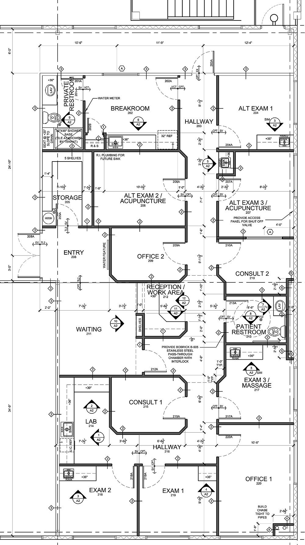 Advice For Medical Office Floor Plan Design In Tenant Buildings Evstudio