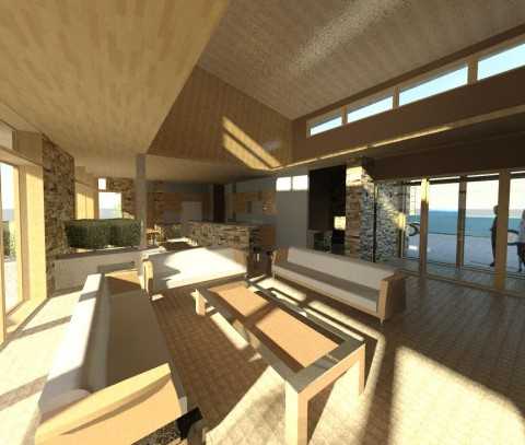 Modern Sustainable Interior From Great Room