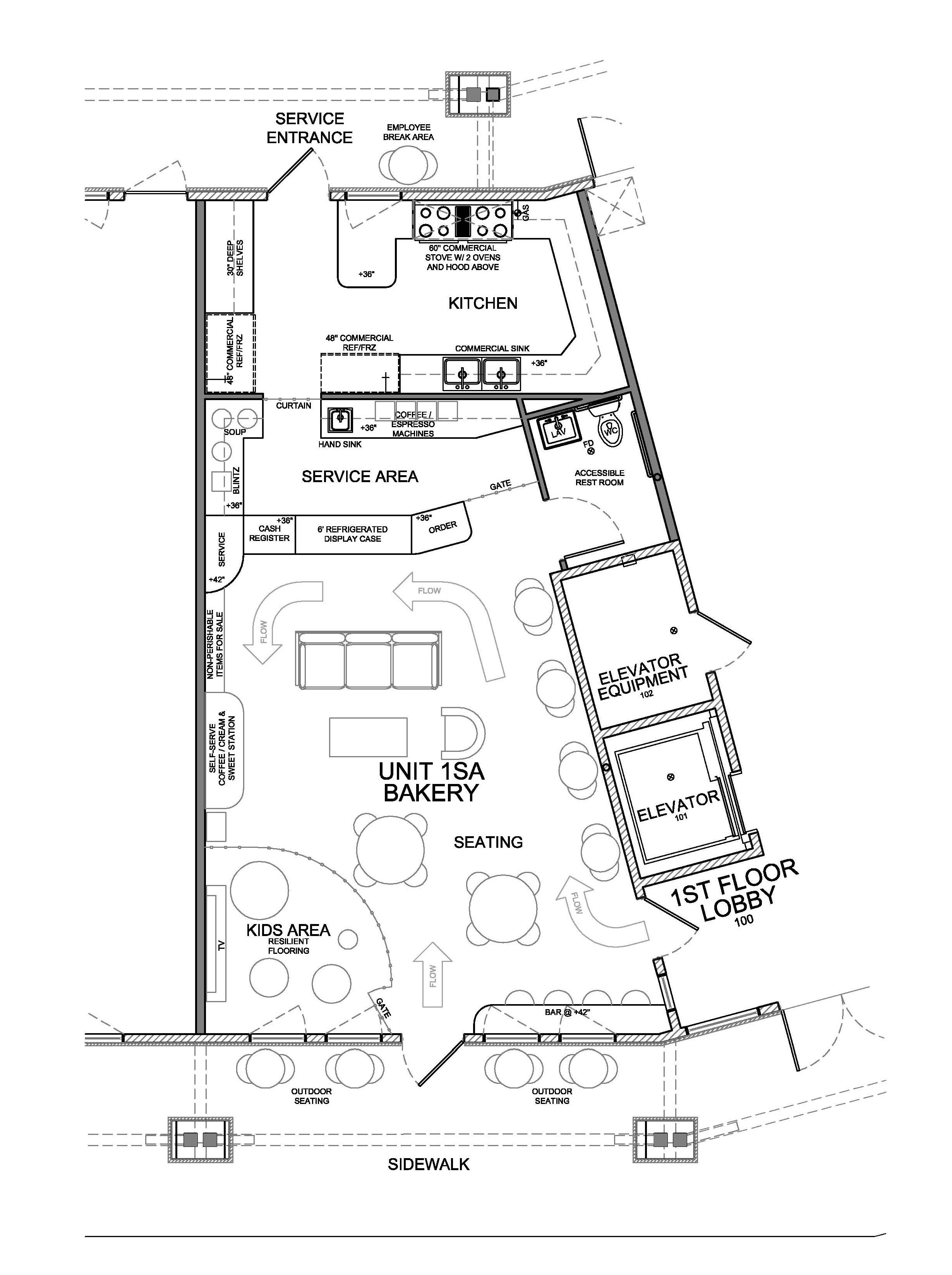 New Floor Plan For Bakery Evstudio