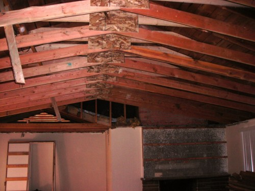 Modified Rafter And Ceiling Joists For