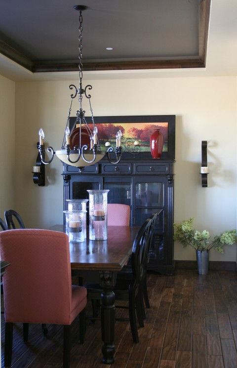 Dining Room Red Brown