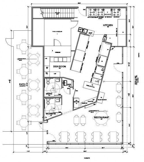 Acapulco Mexican Restaurant Floor Plan