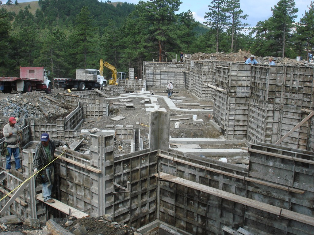 Foundation Wall Forms at Silver Rock Manor