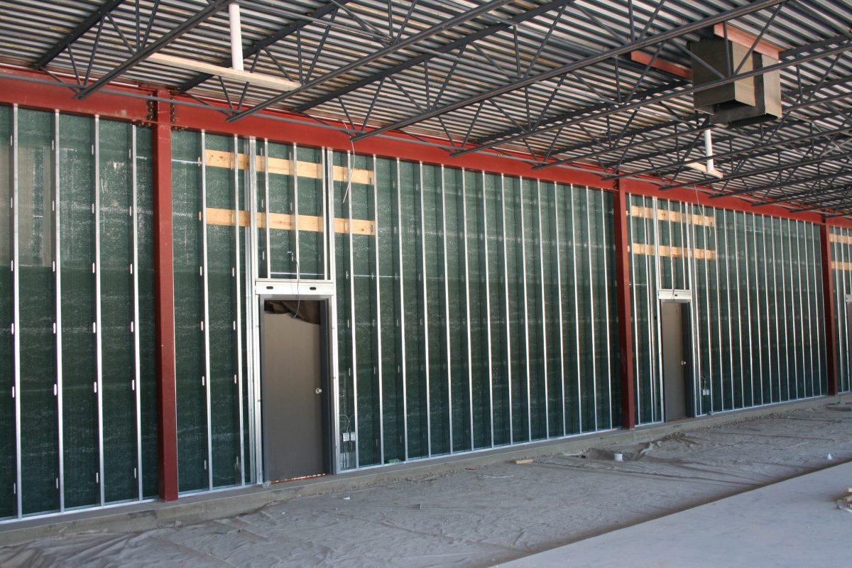 Steel Framed Walls : Steel stud curtain wall menzilperde