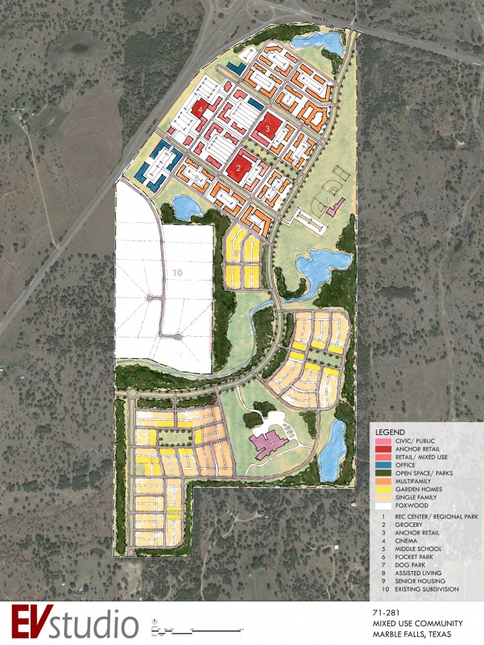 Marble Falls Mixed Use Master Plan
