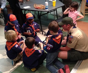 Boy Scouts Structural Engineering Marshmallows