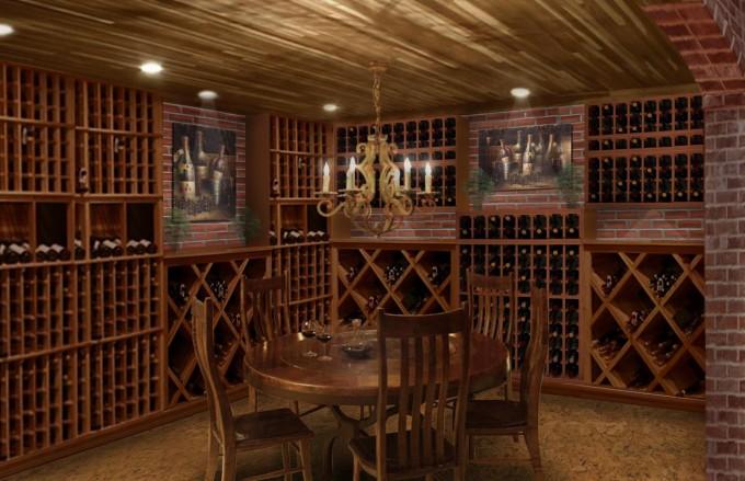 Wine Cellar Rendering