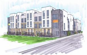 Architecture Multifamily Render Larimer Row