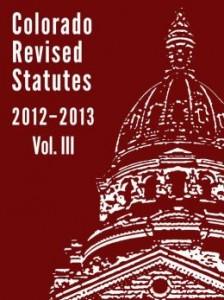 Colorado Revised Statutes 2012-2013