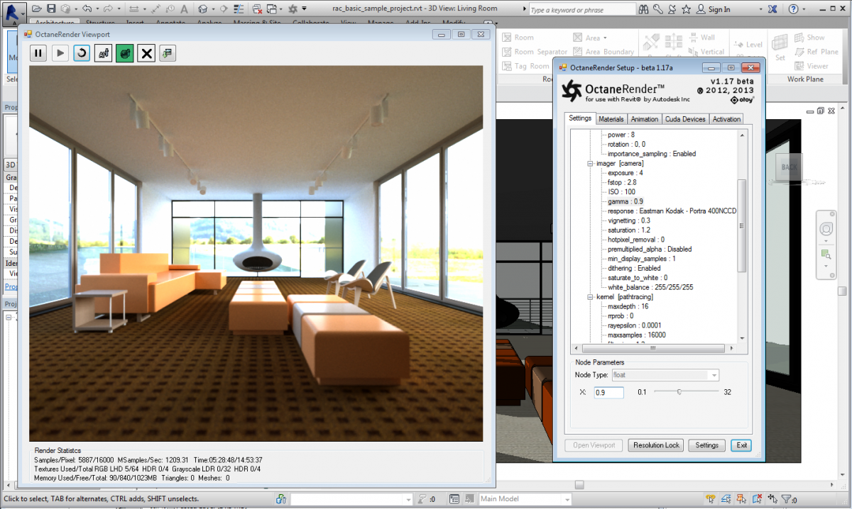 Octane rendering software a plug in for revit for Autodesk online home design
