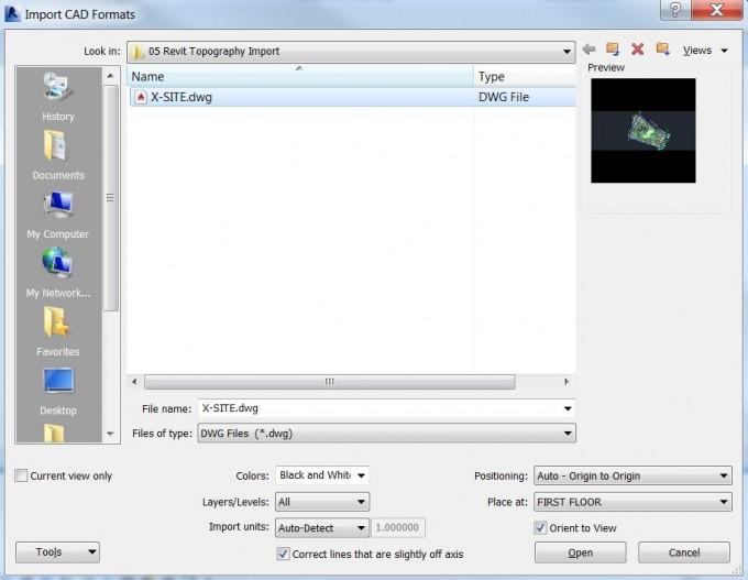 02_Import CAD menu