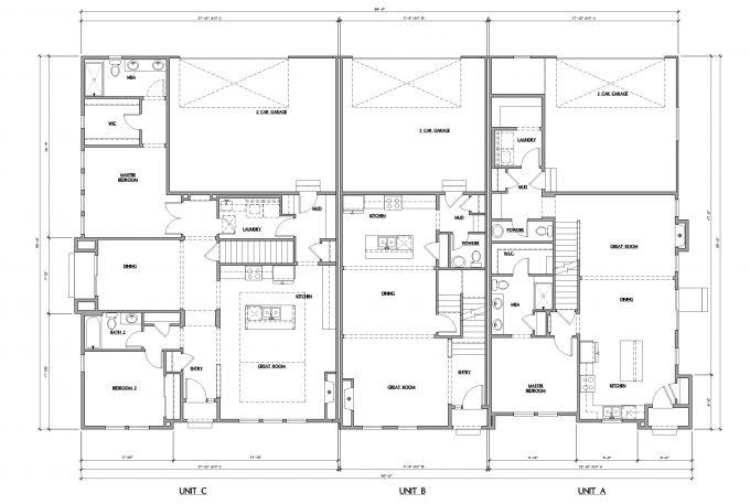 Triplex First Floor Plan