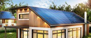Solar power panels on an ADU