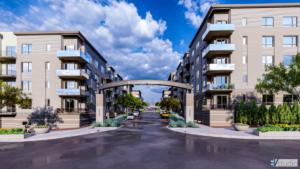 Architecture Multifamily RidgeGate Station Render
