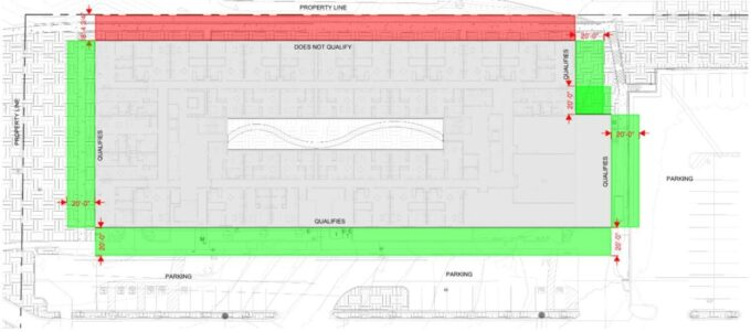 Planning Architecture IBC Frontage Increase