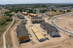 Ten West Greeley Apartment Aerial