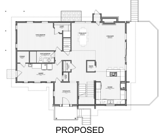 Proposed Main Level Plan - Smith Residence Project Update